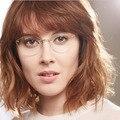 2017 de Las Mujeres Del Ojo de Gato Gafas de Marco Ultraligero Miopía Anteojos Sin Montura Gafas de Metal Gafas Gafas de Grau Feminino