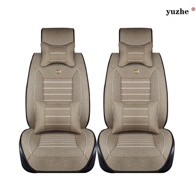 2 Unids asiento de coche de Lino cubre Para Ssangyong Rodius ActYon Rexton Korando Tivolan XLV accesorios car styling
