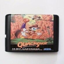 Quack Schuss 16 bit SEGA MD Spiel Karte Für Sega Mega Drive Für Genesis