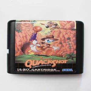 Image 1 - Quack Shot 16 bit SEGA MD oyun kartı için Sega Mega sürücü Genesis