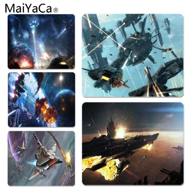 MaiYaCa Cool New Battle Large Lockedge Mouse pad PC Computer mat Size for 18x22cm and 25x29cm Rubber Mousemats