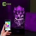 Ганеша 3D LED Музыка Ночь Свет лус Де Escritorio Стол Стол лампы Фея Миссии RGB Tafellamp Lampade Да Tavolo для Домашнего Декора