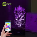Ganesha 3D LED Music Night Light luz De Escritorio Desk Table Lamp Fairy Mission RGB Tafellamp Lampade Da Tavolo for Home Decor