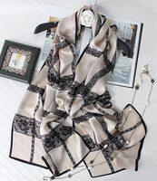lace design 100% silk scarf women summer shawl wraps long 180*65cm fashion luxury real silk traveling pashmina scarves