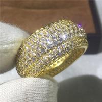 Stunning Luxury Jewelry Victoria New Arrival Unique Desgin 925 Sterling Silver White CZ Women Circle Ring