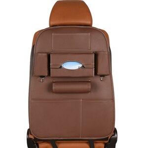 Автомобильный органайзер, сумка для хранения сидений с несколькими карманами, искусственная кожа, подвесной держатель, дорожная сумка, кор...