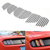 1pcs Car Sticker Funny Rear Tail Light Sticker Honeycomb Type Sticker Cover For Ford Mustang 2015