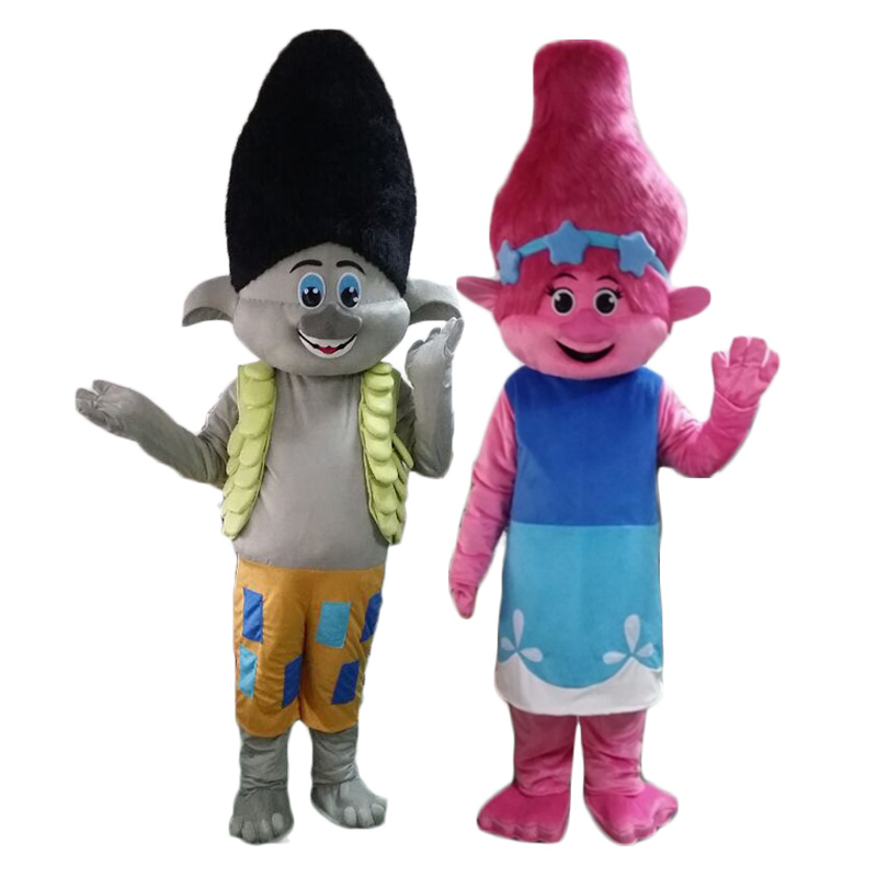 NEW Poppy From Dream works TROLLS Movie Halloween cosply Costume Mascot Fancy Dress adult size Free