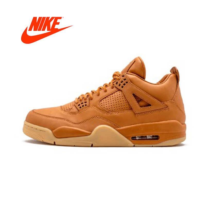 wholesale dealer cf698 4c364 Official Original nike Air Jordan 4 Retro Premium Pinnacle Men s basketball  shoes 819139-205