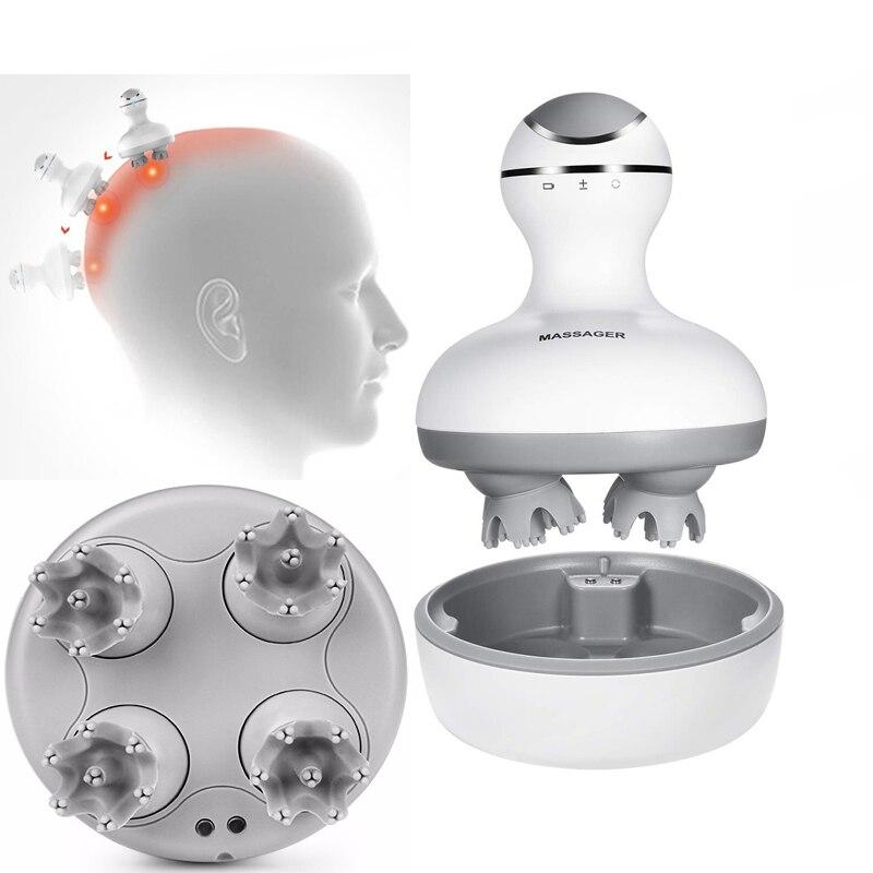 Güzellik ve Sağlık'ten Masaj ve Rahatlama'de Akıllı 4D Kafa Masajı Elektrikli Baş baş masaj aleti Basınç Noktaları Stres Rahatlatmak için Kan Dolaşımını Teşvik Saç Büyüme'da  Grup 1