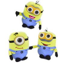 3 sztuk 20CM ukraść księżyc Minion zabawki 3D Minion pluszowe zabawki wypchane pluszowe lalki 18cm Jorge Dave dzieci pluszowe zabawki TY29 tanie tanio Miękkie i pluszowe Zwierzęta Pp bawełna 5-7 lat Pluszowe nano doll Tv movie postaci Unisex nezababy Rysunek statua