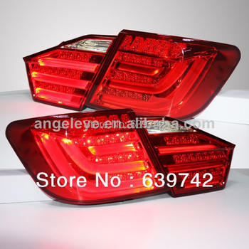 For TOYOTA Camry Aurion LED Tail Rear Lights for BMW Style 2012-2013 year Red Color V1