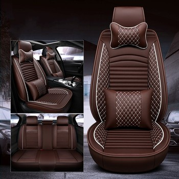 WLMWL Universal Leather Car seat cover for Jeep all models Grand Cherokee renegade compass Commander Cherokee car styling