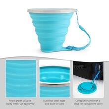 270 мл Складная Эластичный путешествия стакана воды силиконовый складной выдвижной складной чашки Открытый отдых спортивная Складная чашка