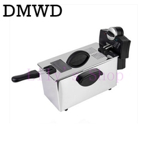 DMWD электрическая фритюрница из нержавеющей стали, коммерческая электрическая фритюрница, бытовая фритюрница, сковорода для картофеля фри, машина для производства ЕС и США