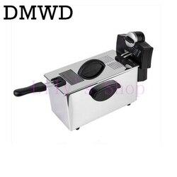 DMWD frytkownica elektryczna ze stali nierdzewnej handlowa elektryczna smażalnica gospodarstwa domowego chipy patelnia frytki maszyna do produkcji ue usa w Elektryczne frytownice od AGD na