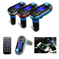 Universal Bluetooth Car Kit FM Transmitter Handsfree Speaker MP3 Player Dual USB Charger Support SD Card USB AUX Input with Mic