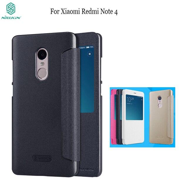 Para Xiaomi Redmi Note 4 funda Nillkin Sparkle Funda de cuero con tapa para Redmi Note 3/Note 4X magnética inteligente fundas para teléfono móvil