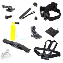 For Gopro SJCAM SJ4000 Equipment Chest Belt Head Mount Strap Floating Bobber Monopod Helmet Strap Adapter For Go professional Hero4 three 2