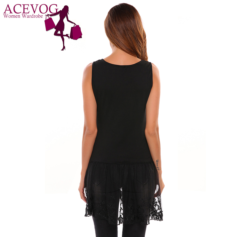 Wholesale lace shirt extender - Aliexpress Com Buy Acevog Women Cami Tops Casual Sleeveless O Neck Pullover Vest Lace Patchwork Shirt Extender Blouse Party Femininotop Tank From Reliable