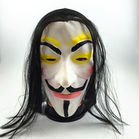 Hot Selling Halloween Party Maskers V voor Vendetta Masker Anoniem Guy Fawkes Fancy Dress Volwassen Kostuum Accessoire Cosplay Maskers