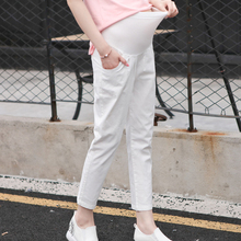 Spring Maternity Women Pants Plus Size Adjustable Waist For Pregnant Clothes Fashion Pregnancy Trousers Pockets