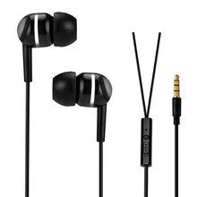Wired Headset Microphone-Earphones Earplug Volume-Control Bass Samsung Huawei Xiaomi
