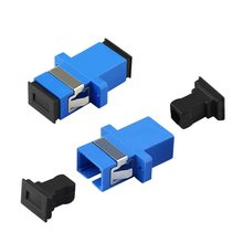 20pcs/lot Single Mode SC to SC UPC Connector SC Flange Fiber Optical Coupler(China)