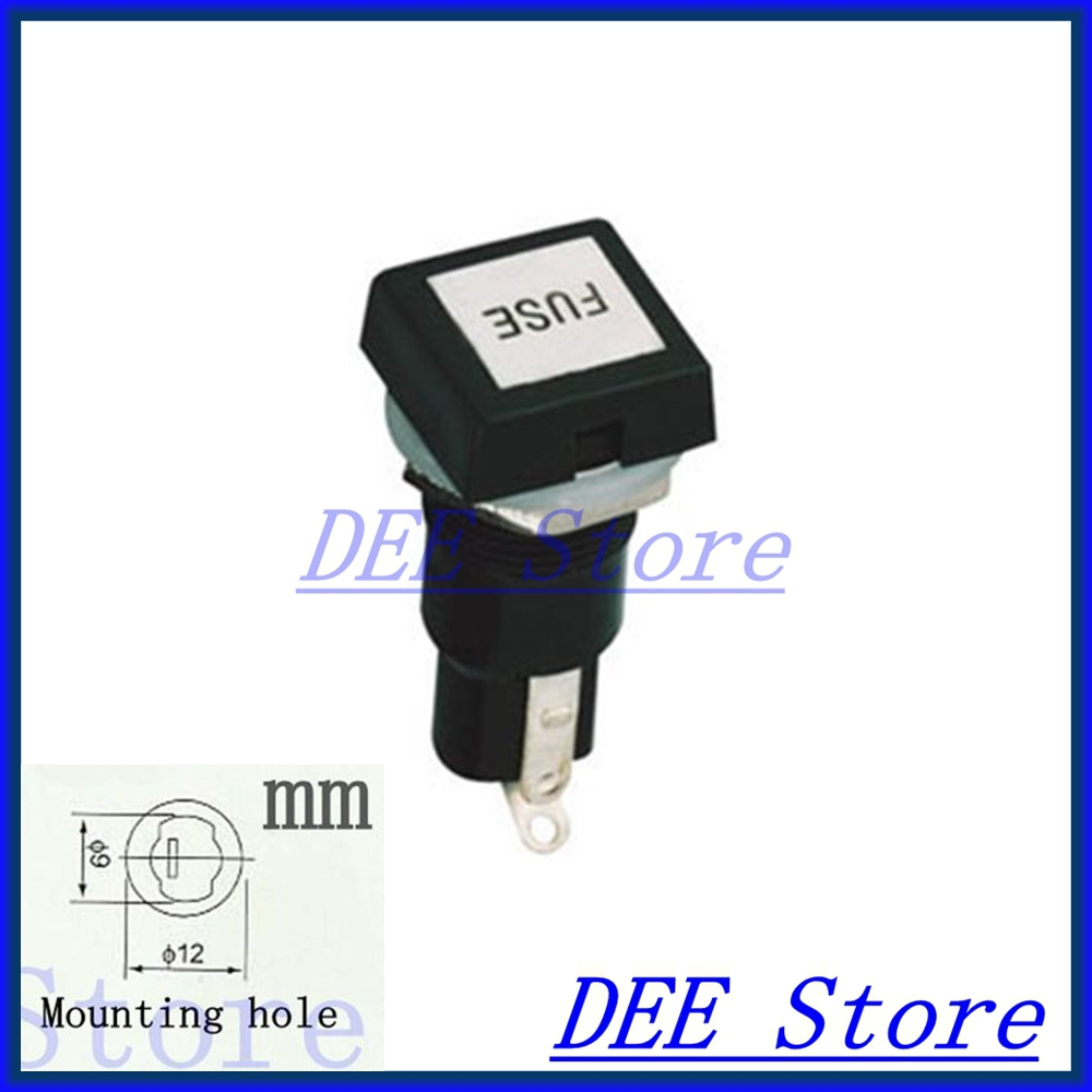 5x20 Fuse Block Holder Panel Mount Fuseholder Holders For Box Connectors 520mm Cylindrical Glass