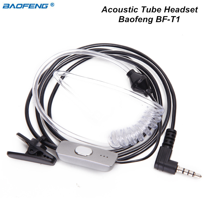 Baofeng BF-T1 Acoustique Tube PTT Mic Ecouteur Casque pour Baofeng BF-T1 talkie Walkie BF T1 Mini Jambon Radio BFT1 Deux Way Radio