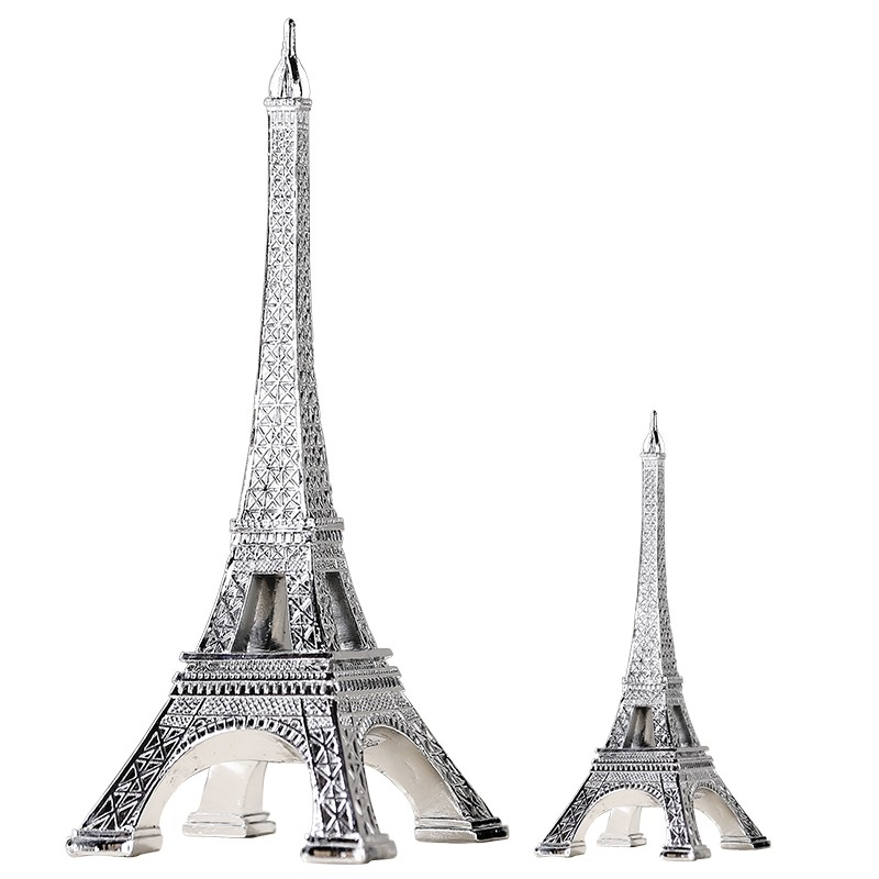 European style Paris Tower background photography props Home Decor furnishings Sliver Gifts Resin Crafts drop shipping
