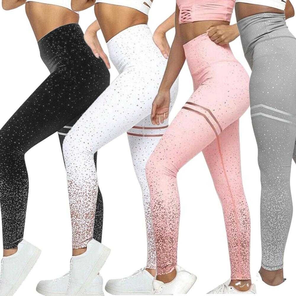 Stamping Yoga Pants Golden High Waist Sports Leggings For Fitness Women's Push Up Gym Tights Mallas Mujer Deportivas Leggins