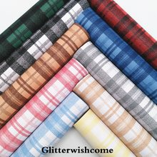 Glitterwishcome 21X29CM A4 Size Vinyl For Bows Printed Plaids Tartan Leather Fabirc Faux Leather Sheets for Bows, GM218A(China)