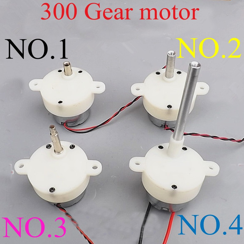 1PC Gearboxes DC 6V Gear Motor 5RPM / 7RPM Long Shaft Motor Reduction 300 Series