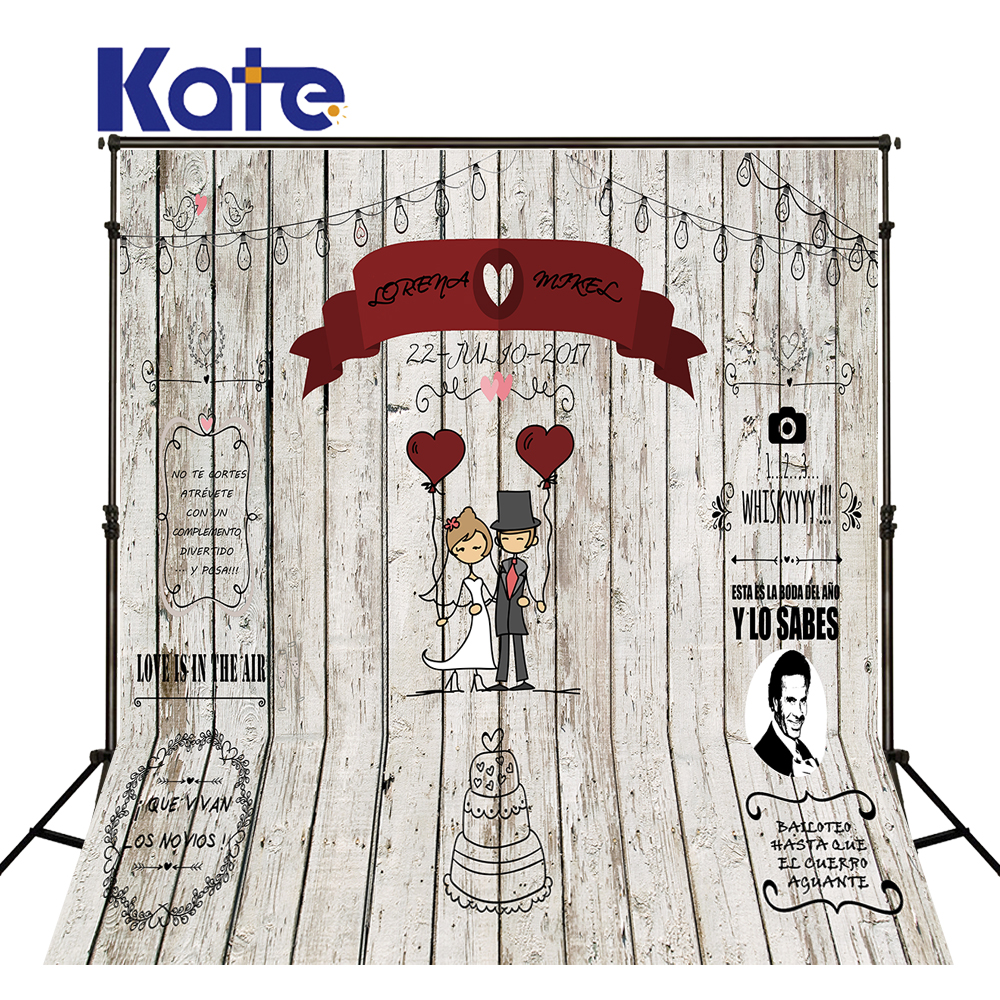 Kate Wooden Wall Wedding Photo Background Photography Backdrop Cake Romantic Backgrounds For Photo Studio Washable Backdrops kate photo background black and white striped backdrop wedding backdrops children photo background for photo studio
