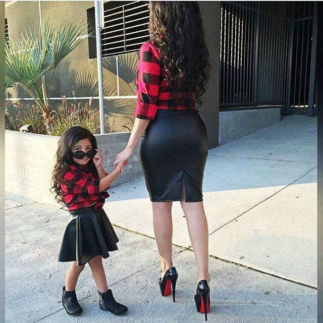 054e30f49471 Online Shop 2016 Fashion Kids girl clothes sets plaid shirt and ...