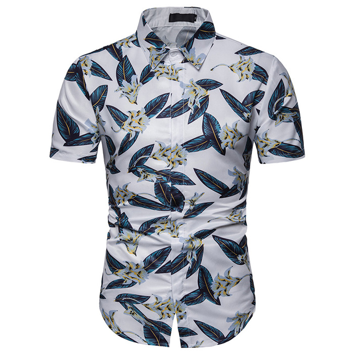 Mens Pineapple 3D Print Button Down Casual Shirt Summer Aloha T-Shirt Hawaiian