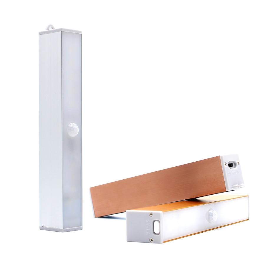 Night Light LED Human Motion Sensor USB Cabinet Lamp Infrared Detector Study lighting