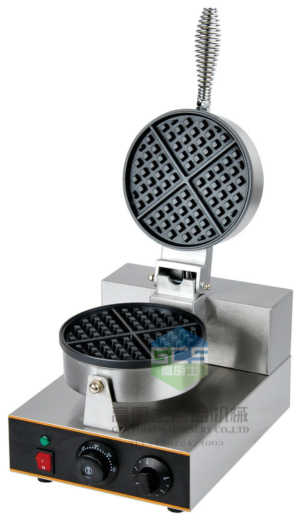 Hot sale Electric Single head for waffle machine waffle cake waffle baker Snack equipment egg waffle maker hot sale cayler