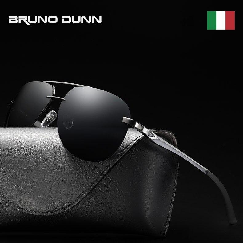 Bruno dunn 2019 aviação óculos de sol polarizados homem dirigindo óculos de sol óculos de sol óculos de sol masculino ray lunette homme