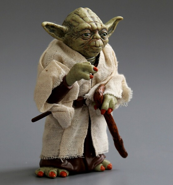 Star Wars Action figure Jedi Knight Master Yoda PVC Collectible Model Toy Doll Gift 12cm For Children gift no box