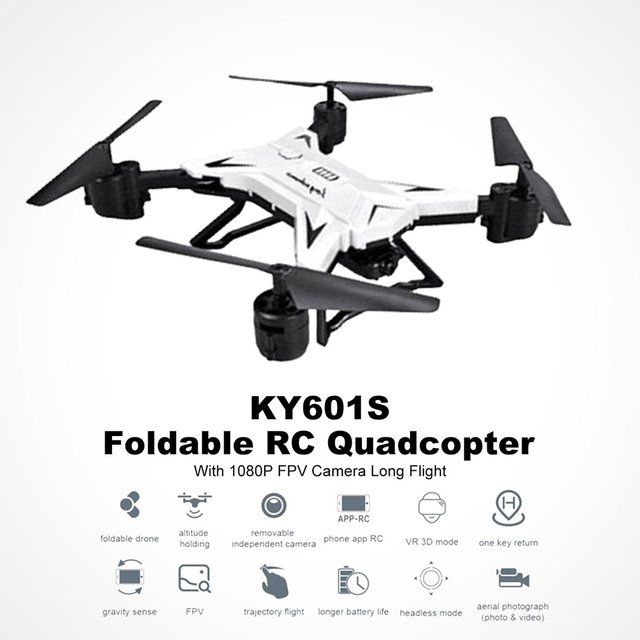 Professional KY601S 4 Channel Long Lasting Foldable Arm Remote Control Quadcopter New Aircraft Headless Mode RC Mini Helicopter