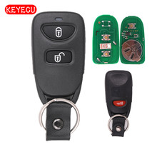 Keyecu Car Remote Control Key Fob 2 1 Button 433MHz for Hyundai Tucson Santa Fe 2005
