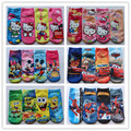 retail hot sale 2014 new baby cotton hello kitty socks Cute Girls boys Children's sock kids cartoon mickey socks baby 2pair/lot