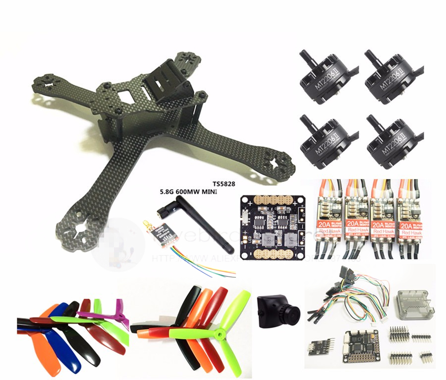 DIY FPV mini drone QAV-X 5 pure carbon frame kit EMAX Cooling 2206II +Red Hawk BL20A ESC OPTO +NAZE32 / F3 + 700TVL camera diy mini fpv 250 racing quadcopter carbon fiber frame run with 4s kit cc3d emax mt2204 ii 2300kv dragonfly 12a esc opto