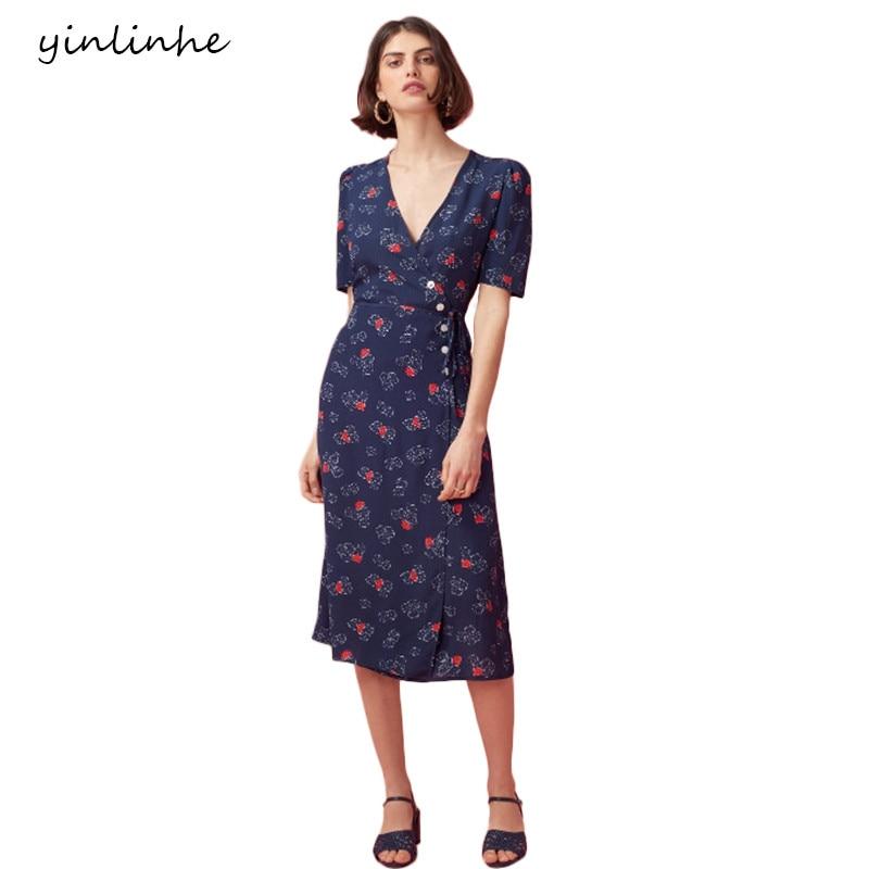 Aliexpress.com : Buy Yinlinhe Green Floral Summer Dress