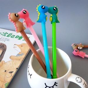 Image 3 - 40 個新漫画の動物クリエイティブかわいい恐竜中立ペン子供アニメ黒ペン