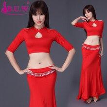 2017 jupe de danse du ventre B. u. w marque modale nouvelle offre spéciale femmes Costumes de danse du ventre exercice Performance Top   jupe Costumes 8060