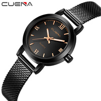 CUENA Luxury Women Waterproof Quartz Watches Fashion Casual Student Steel Dress Wristwatches Ladies Relojes Reloj