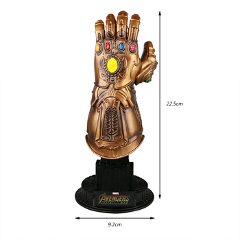 Thanos Infinity Gauntlet Avengers Infinity War Gloves Action Figure Cosplay Superhero Avengers Thanos Glove Halloween Party Prop avengers infinity war thanos bracelet the power soul stone bangles for women men jewelry gifts